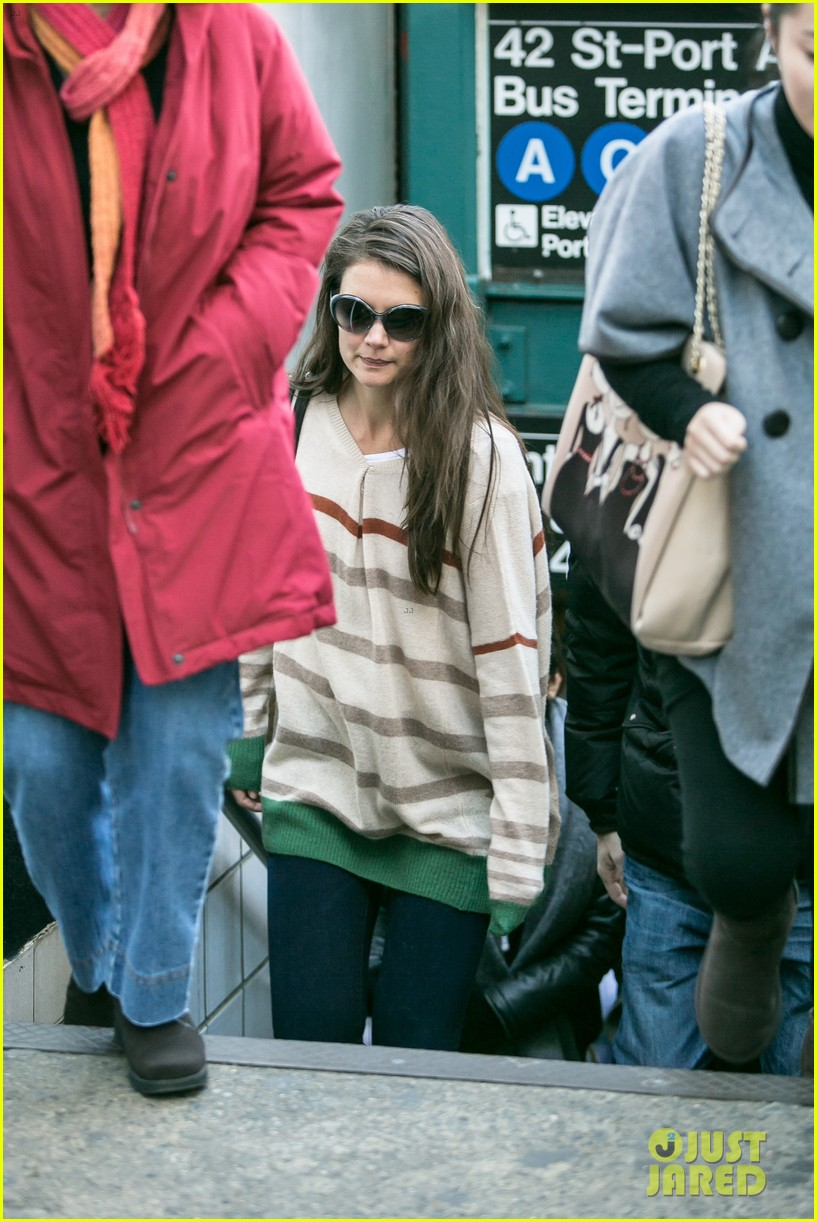 katie holmes commutes to work with male pal 112757588