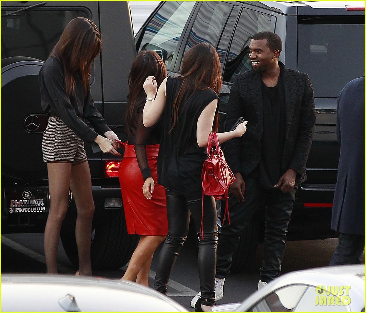 kim kardashian kanye west x factor dinner date 08