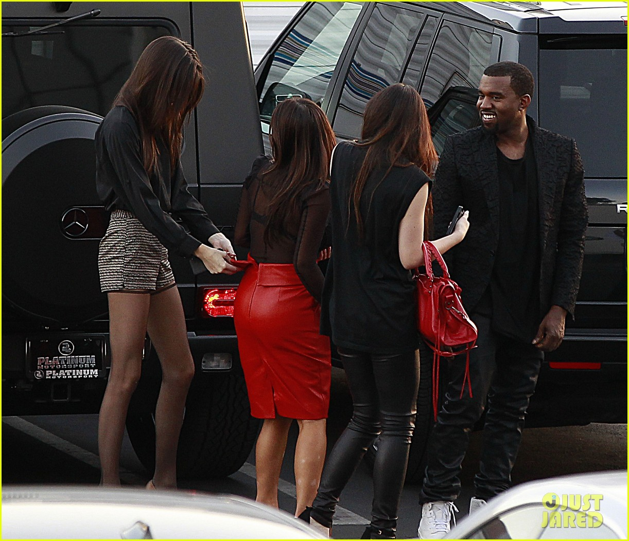 kim kardashian kanye west x factor dinner date 09