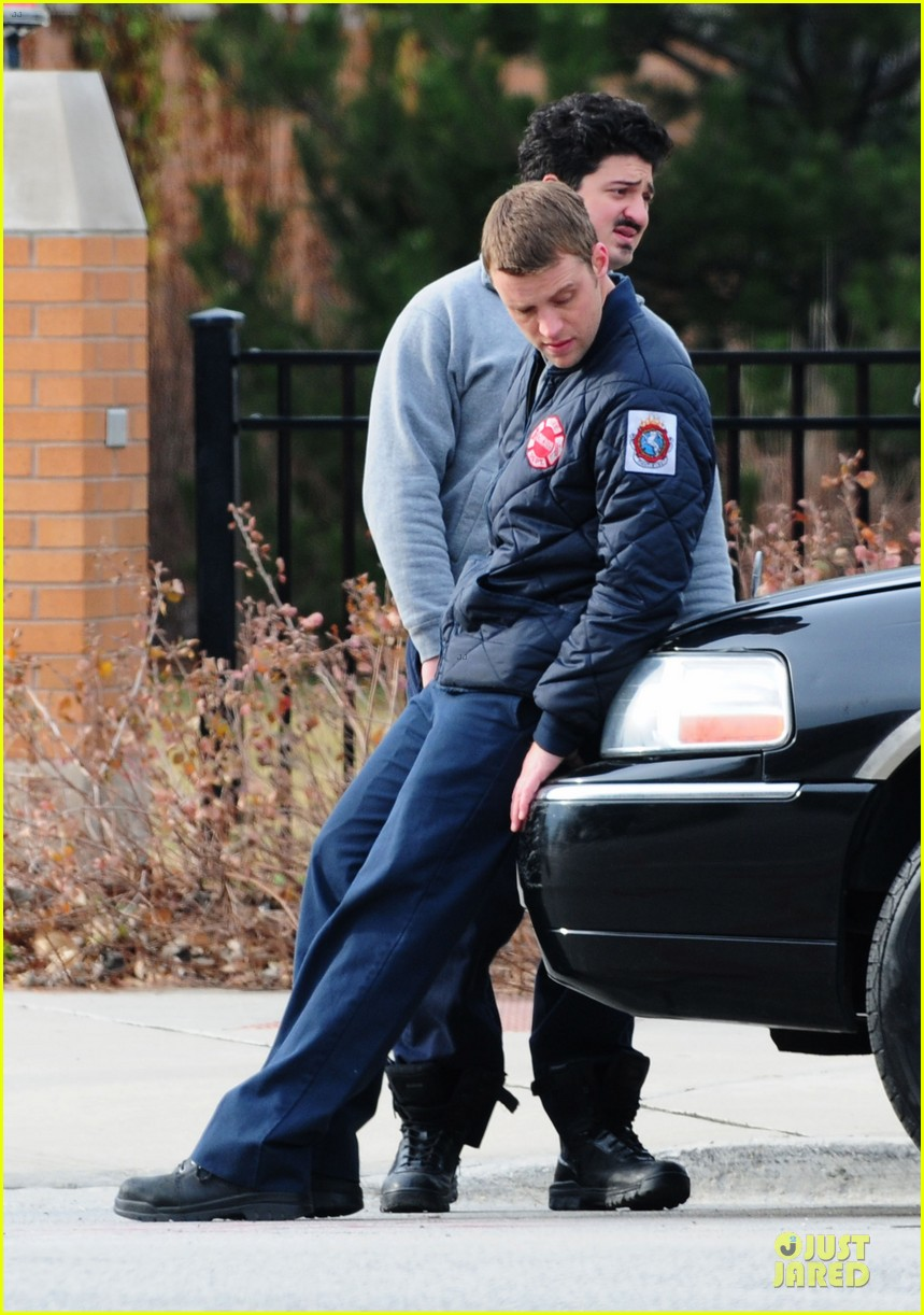 taylor kinney jesse spencer chicago fire set 14