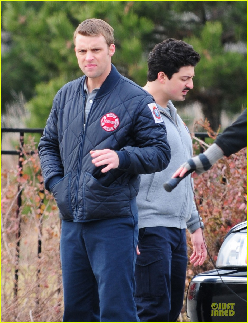 taylor kinney jesse spencer chicago fire set 212765051