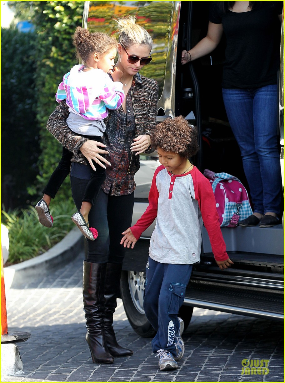 heidi klum lunch stop with the kids 03