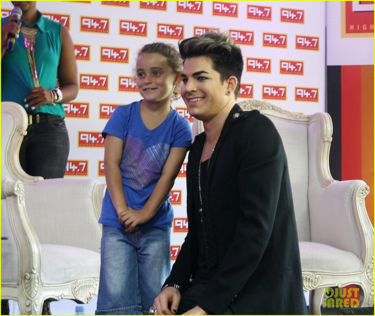 adam lambert hugs lucky young fan in south africa 032759977