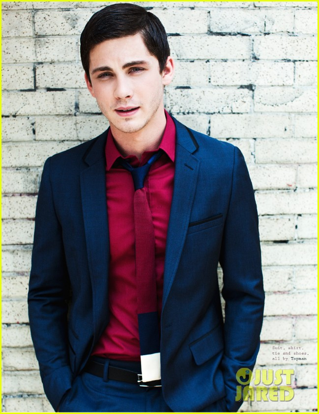 logan lerman covers visual ties magazine 05