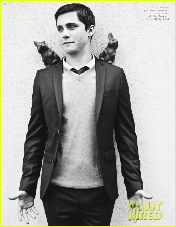 logan lerman covers visual ties magazine 09