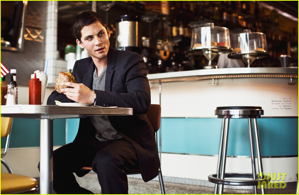 logan lerman covers visual ties magazine 14