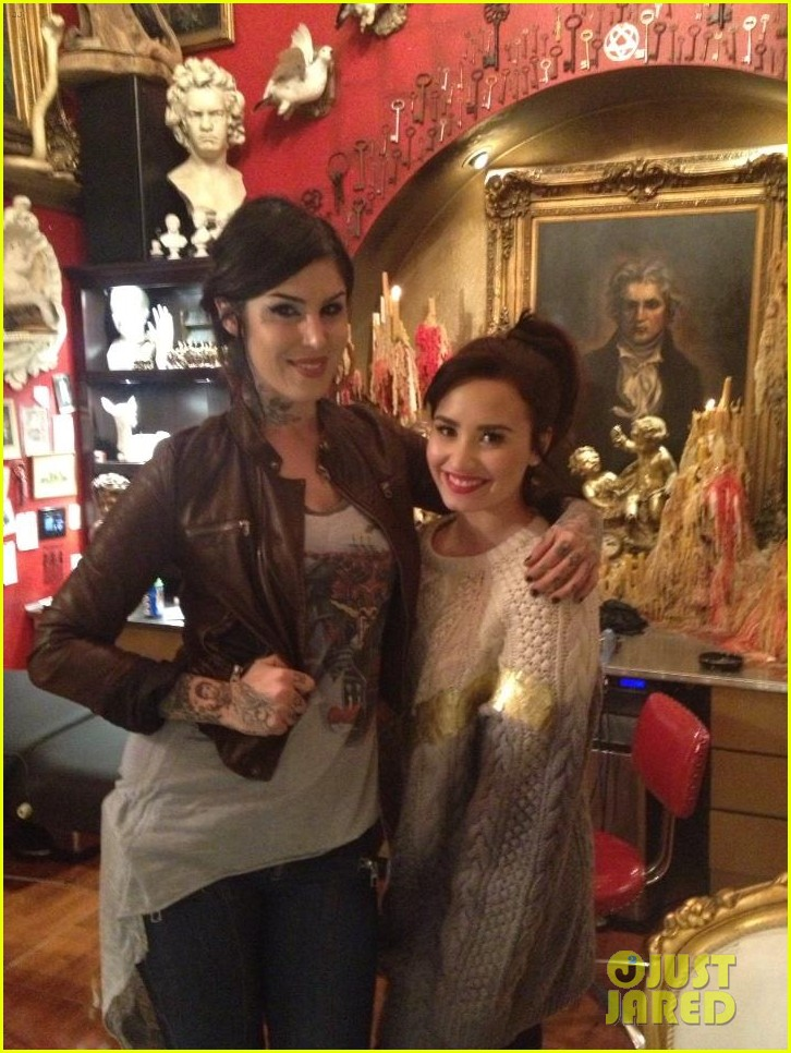 demi lovato new arm tattoo via kat von d 022764122