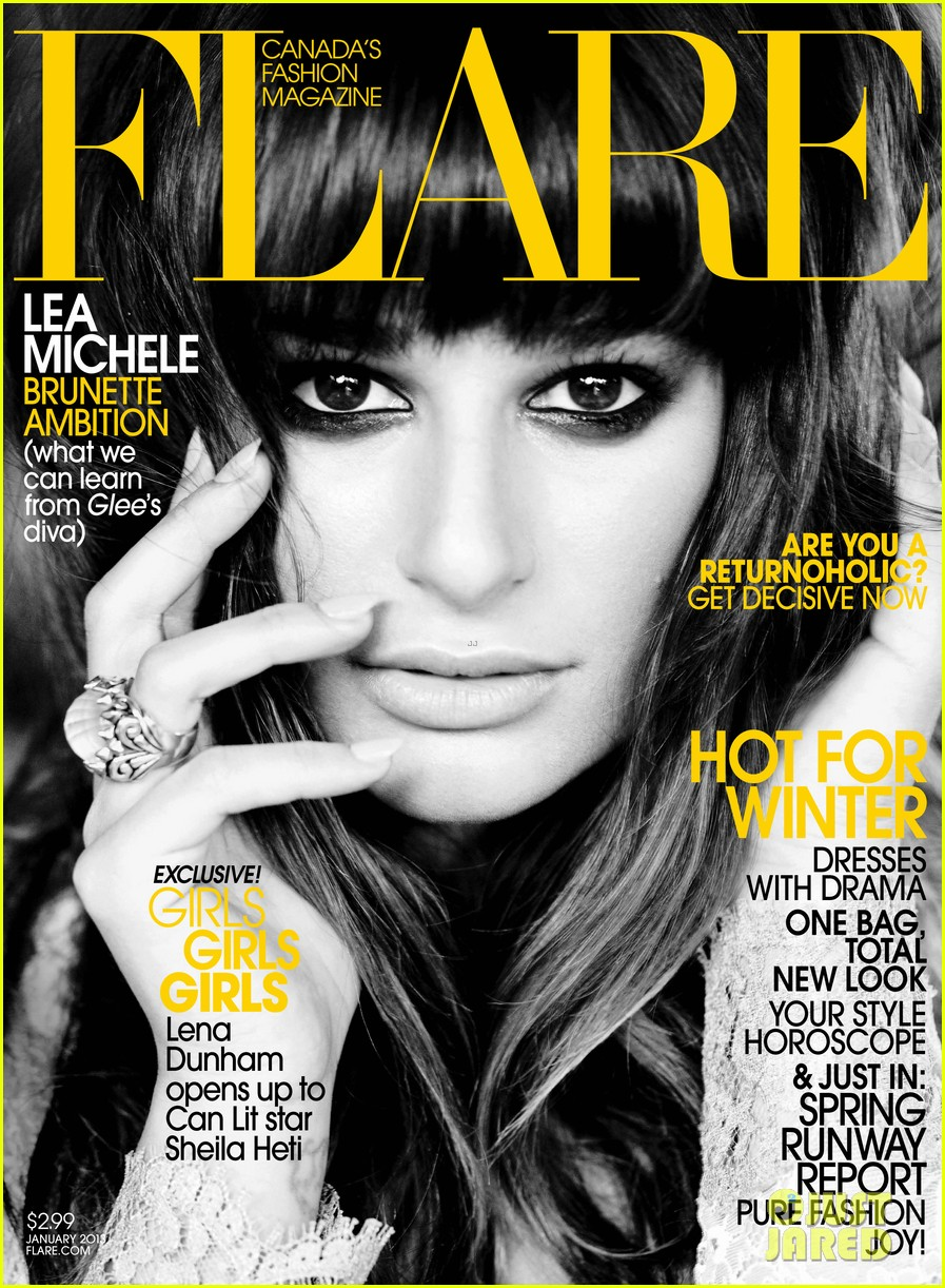 lea michele covers flare january 2013 01