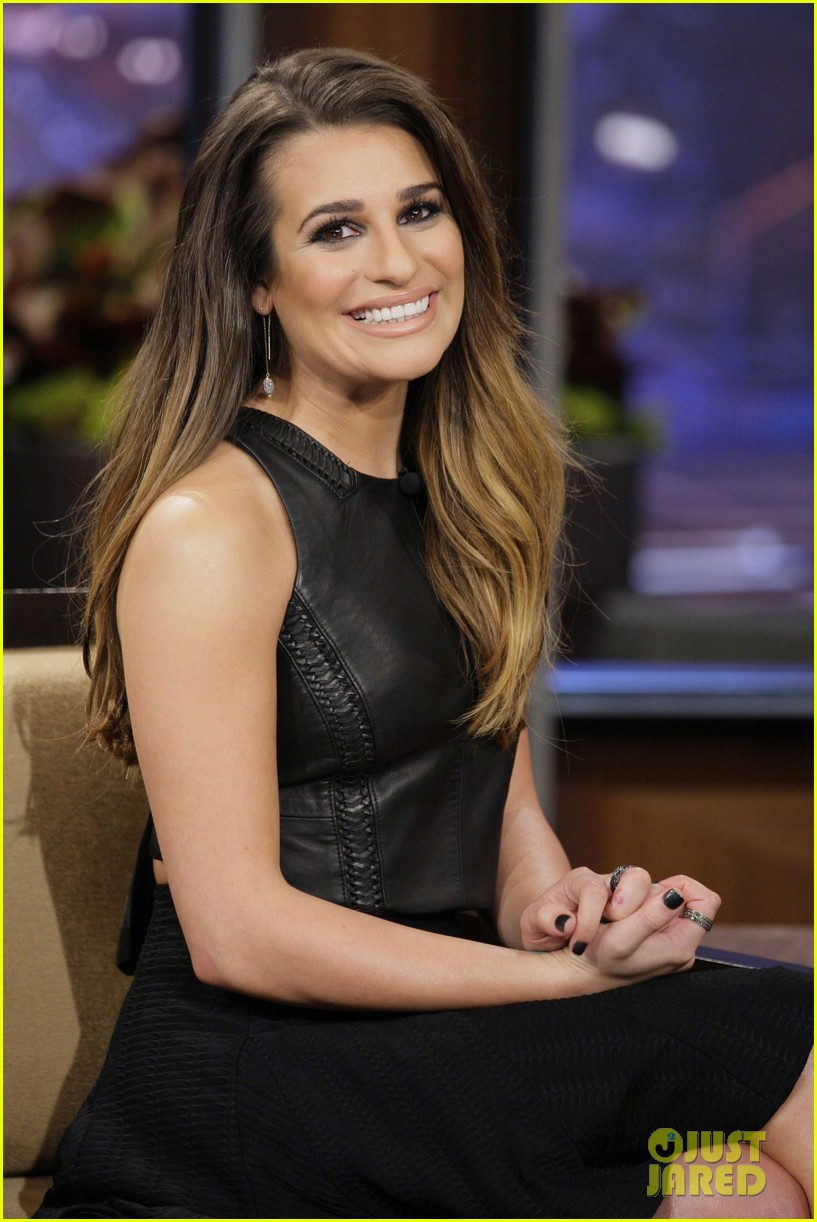 lea michele tonight show appearance 022756383