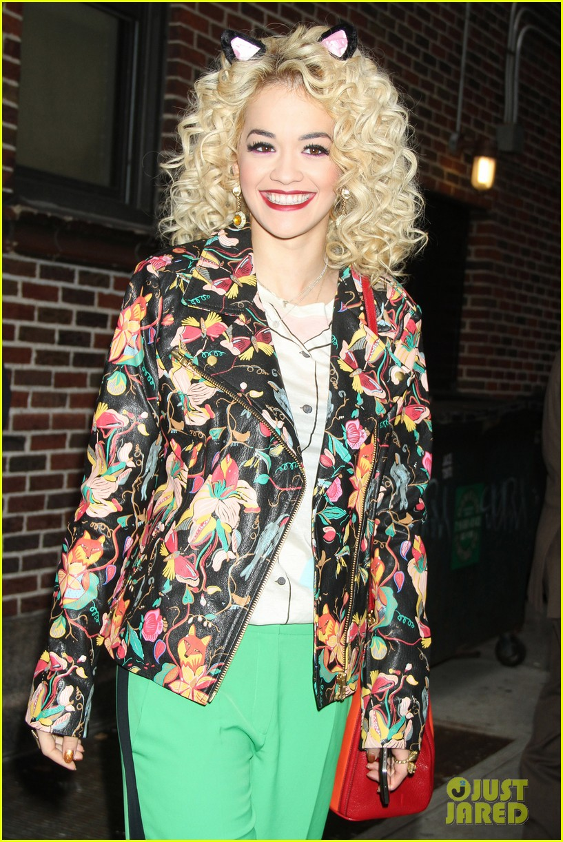 rita ora late show david letterman guest 02