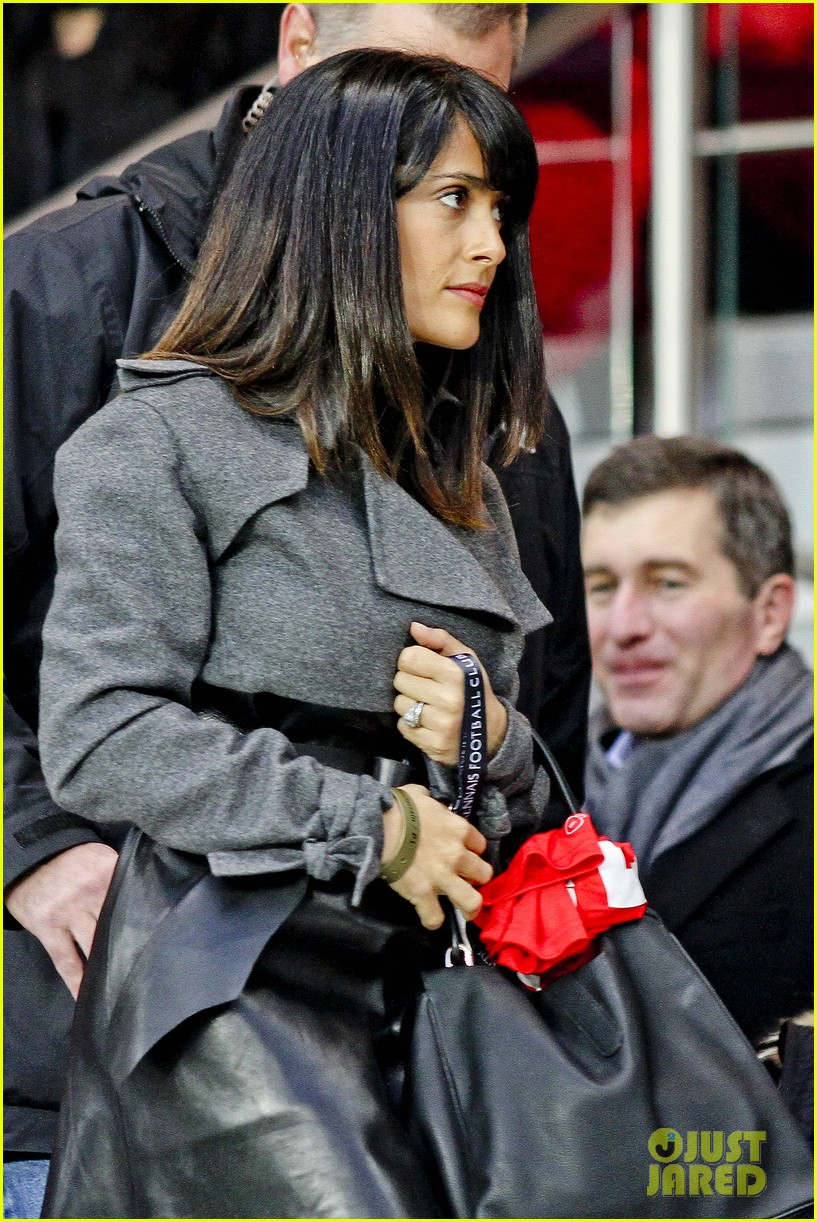 salma hayek french first league soccer fan 112759941