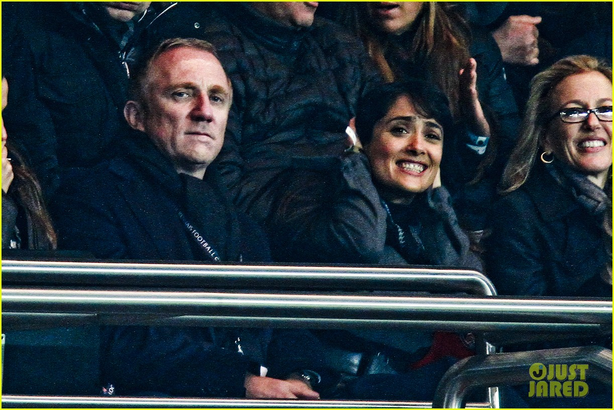 salma hayek french first league soccer fan 152759945