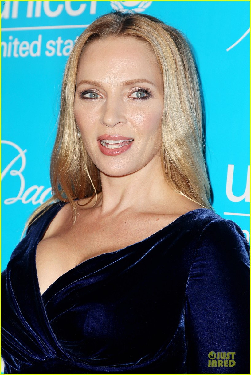 uma thurman kate mara unicef snowflake ball 022764959