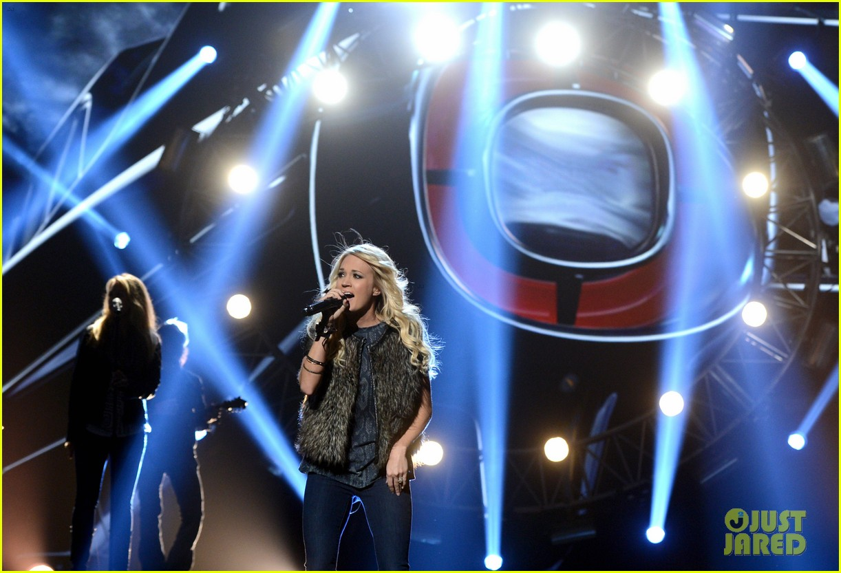 carrie underwood amas rehearsals 2012 07