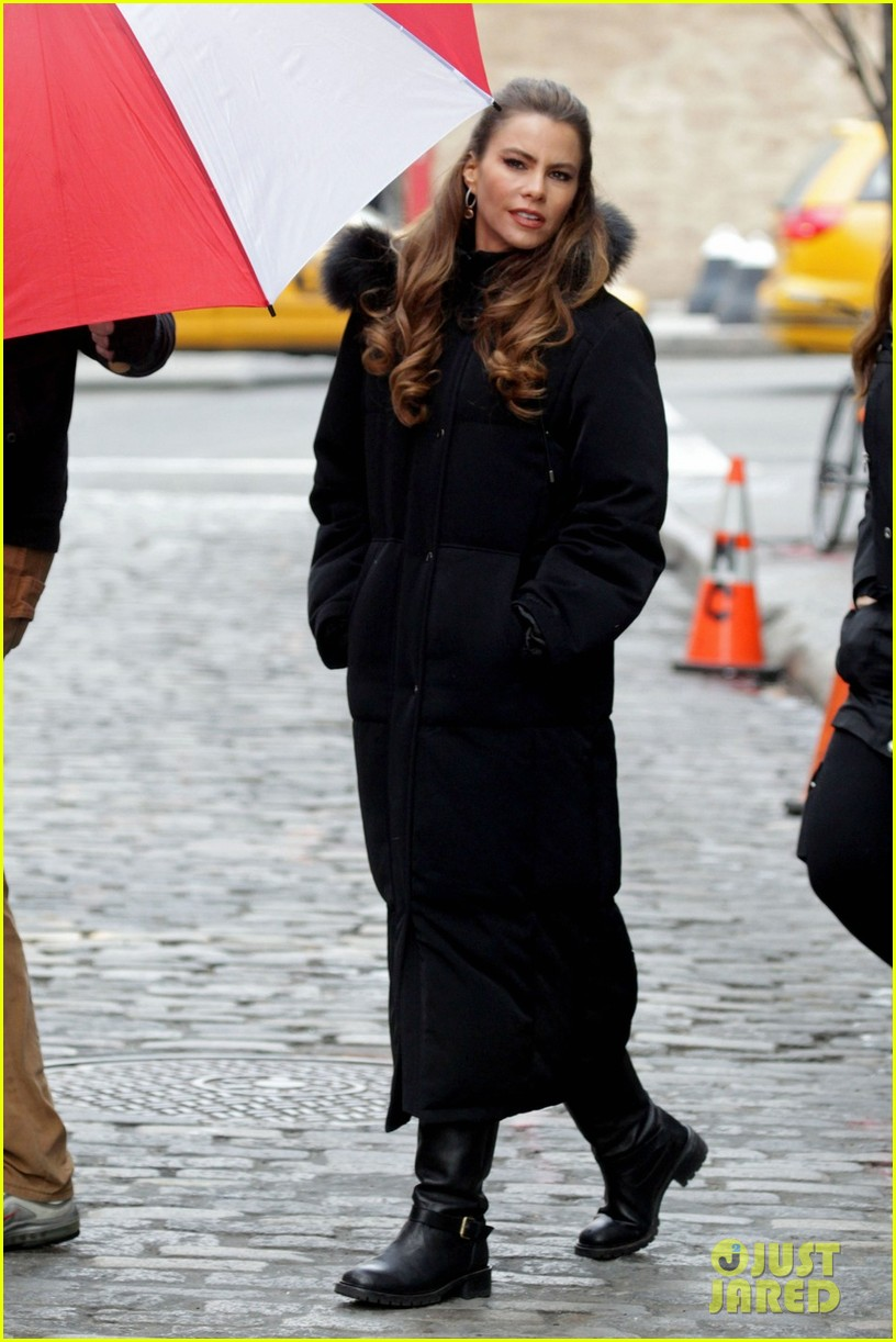 sofia vergara fading gigolo filming 09