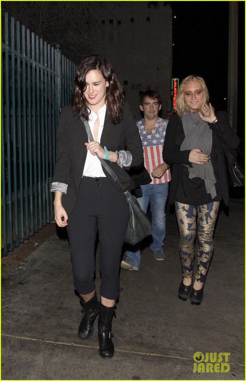 rumer willis celebrates president obamas win at sayers club 03