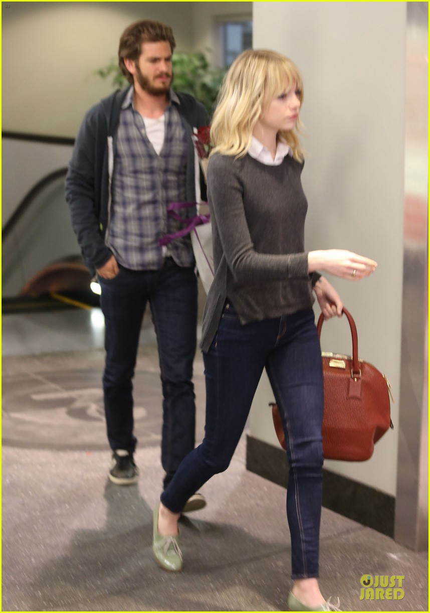 emma stone andrew garfield west hollywood work out pair 05