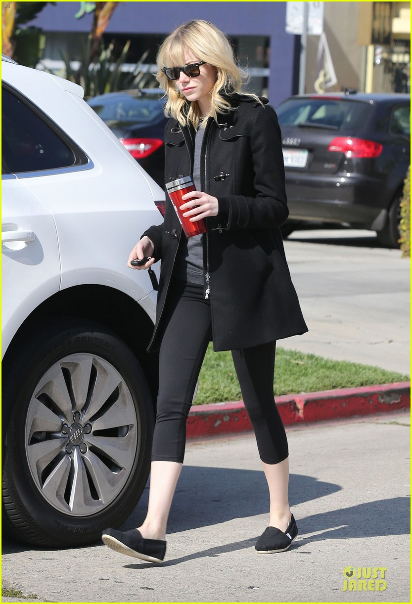 emma stone andrew garfield west hollywood work out pair 13
