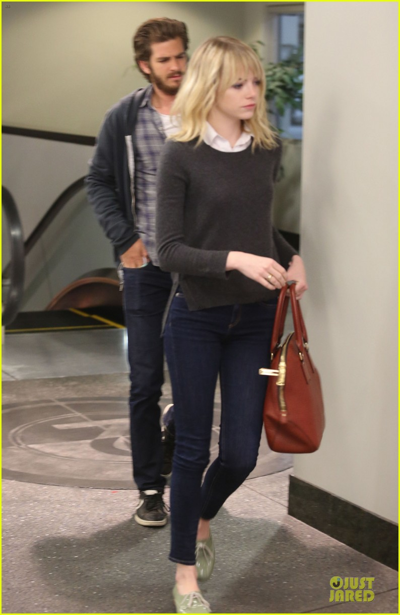 emma stone andrew garfield west hollywood work out pair 24