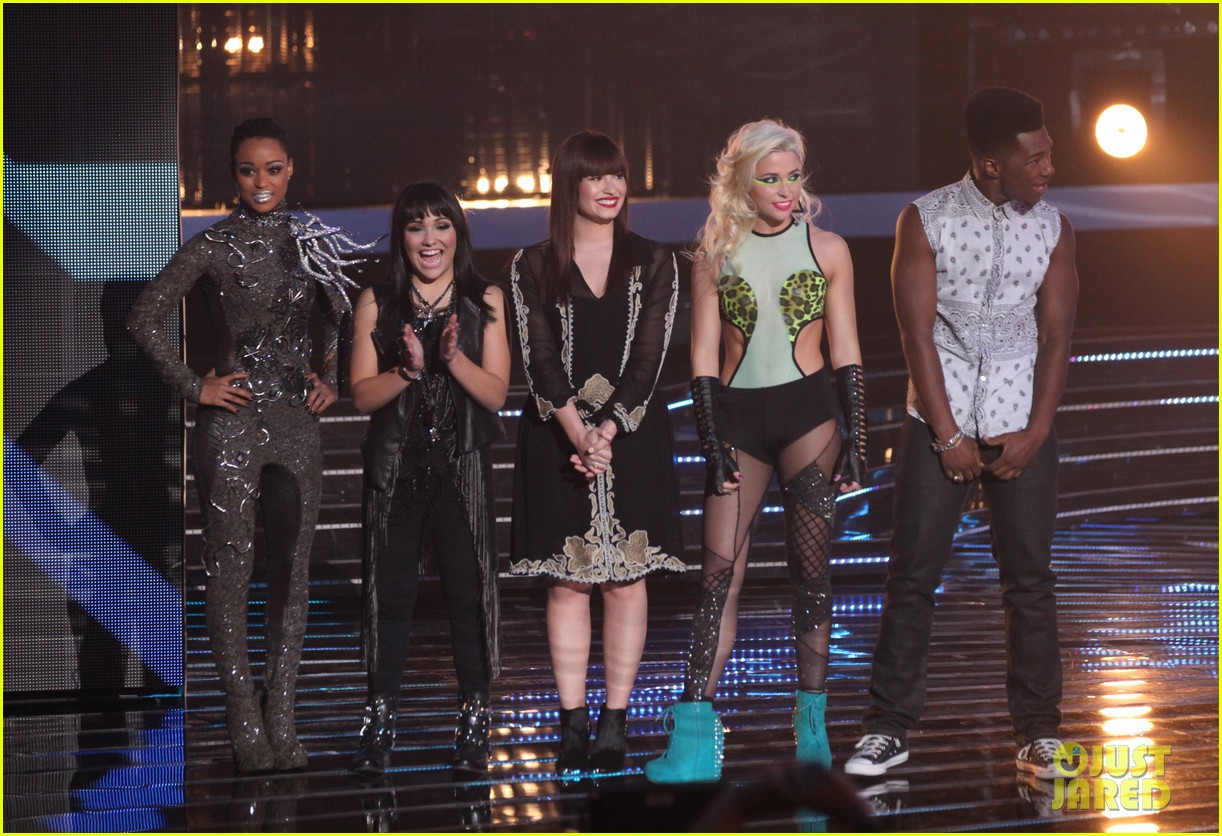 britney spears demi lovato x factor top 16 recap 03