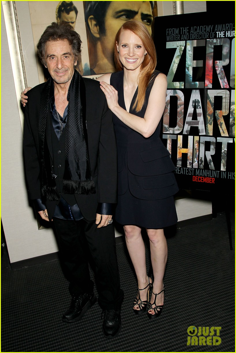 jessica chastain zero dark thirty screening with al pacino 112777832