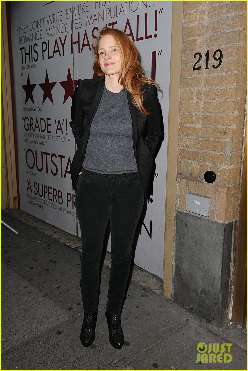 jessica chastain windswept at the heiress 142778738