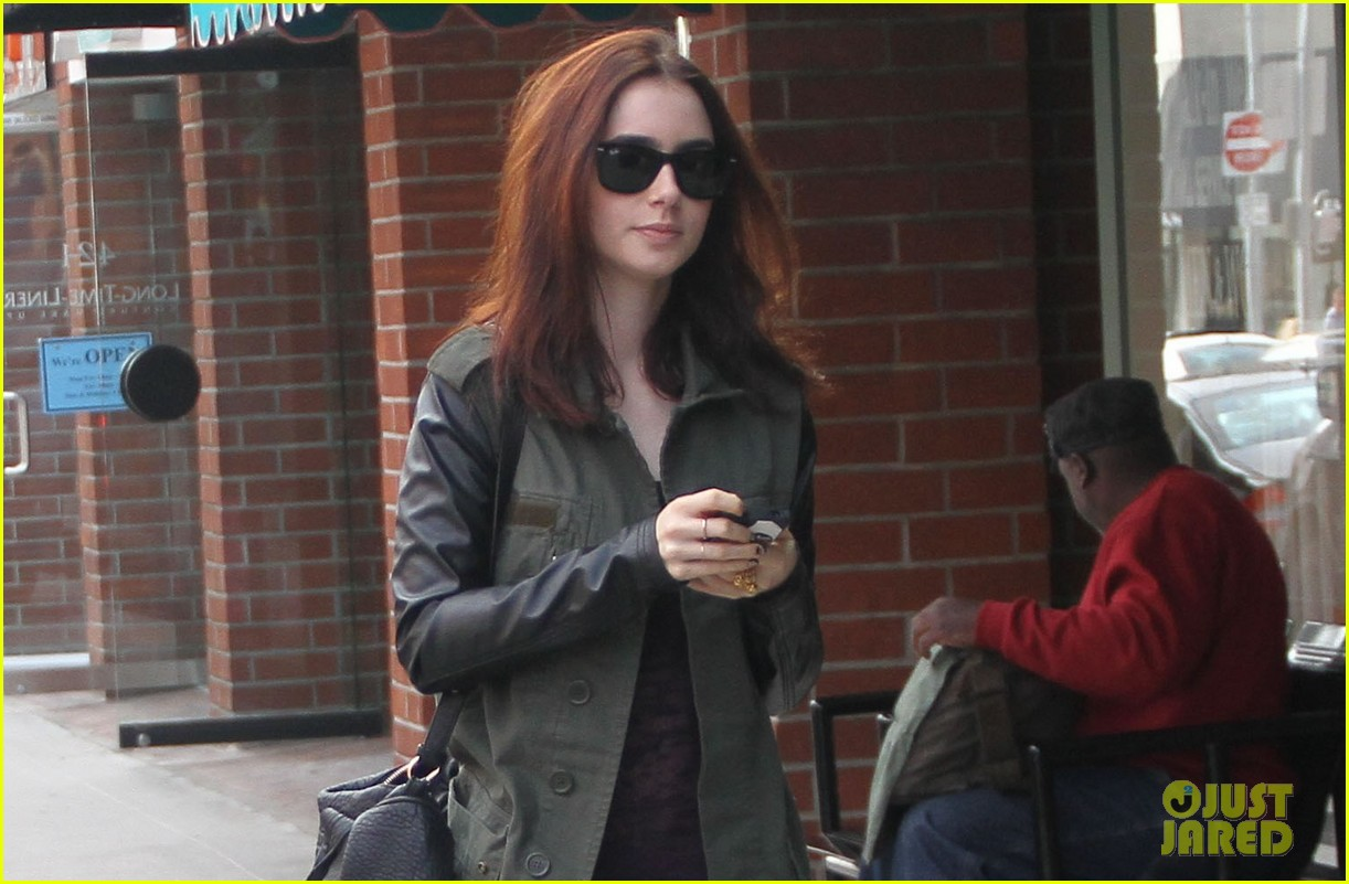 lily collins beverly hills holiday shopping 02
