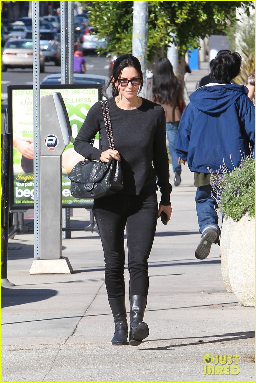 courteney cox cougar town filming 02