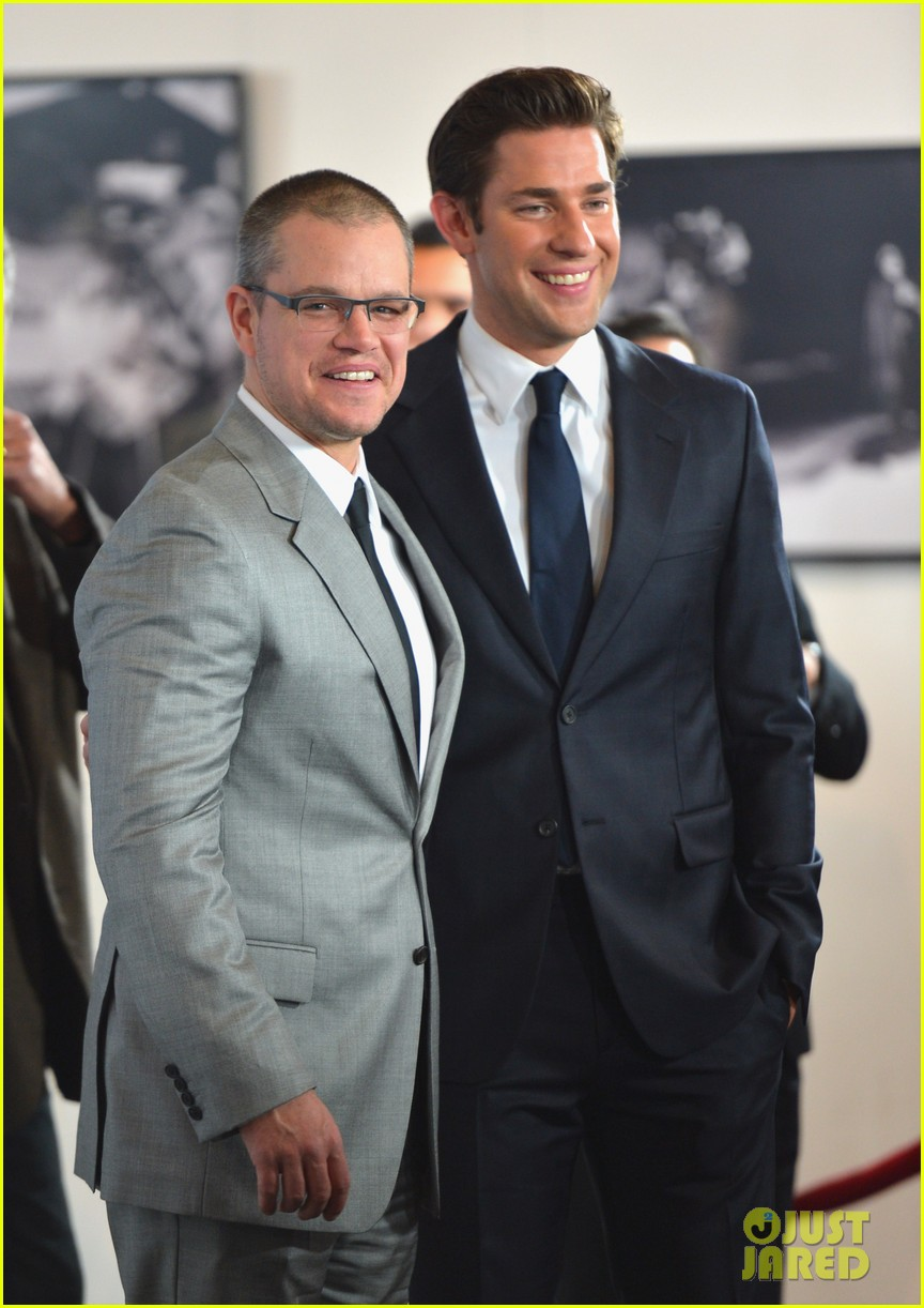 matt damon john krasinski promised land premiere 102771074