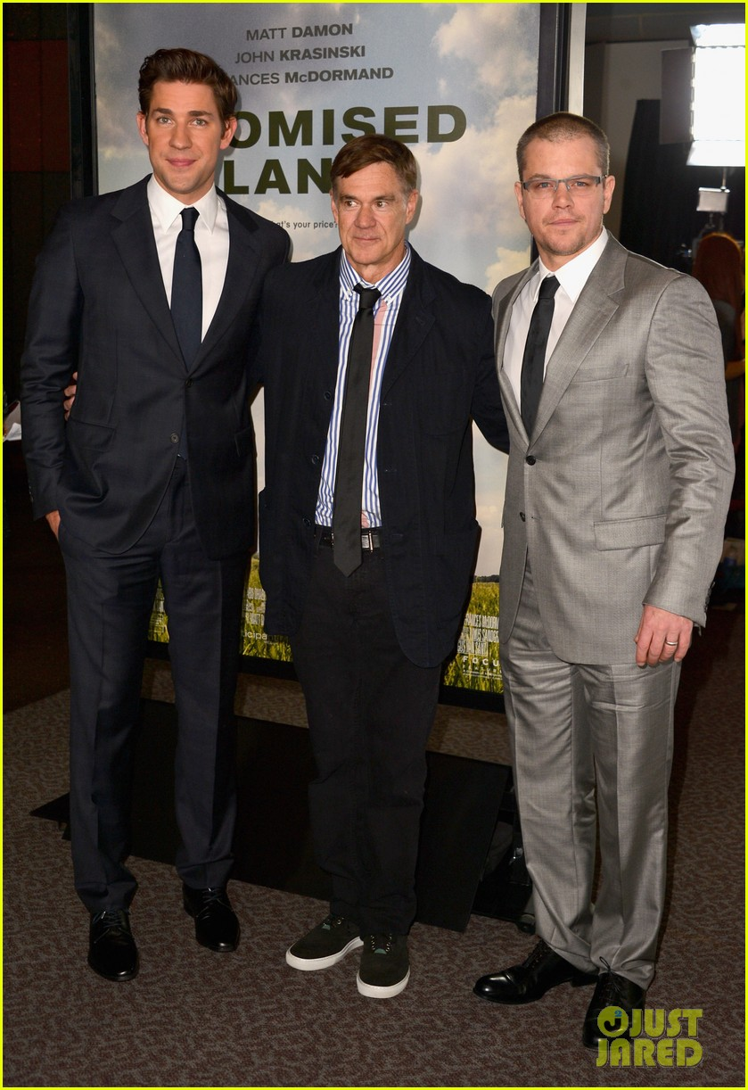 matt damon john krasinski promised land premiere 252771089