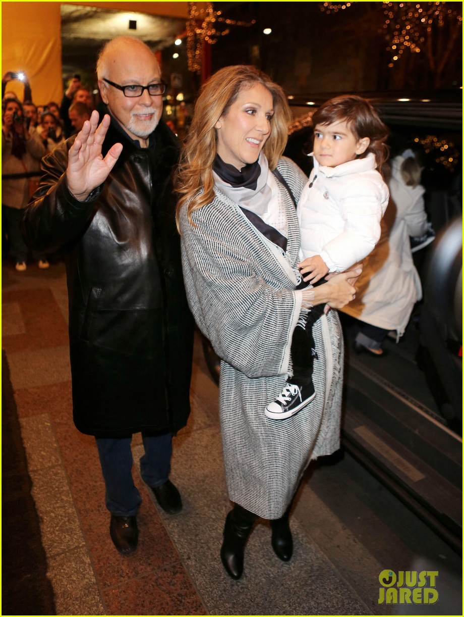 celine dion george v hotel exit with family 04