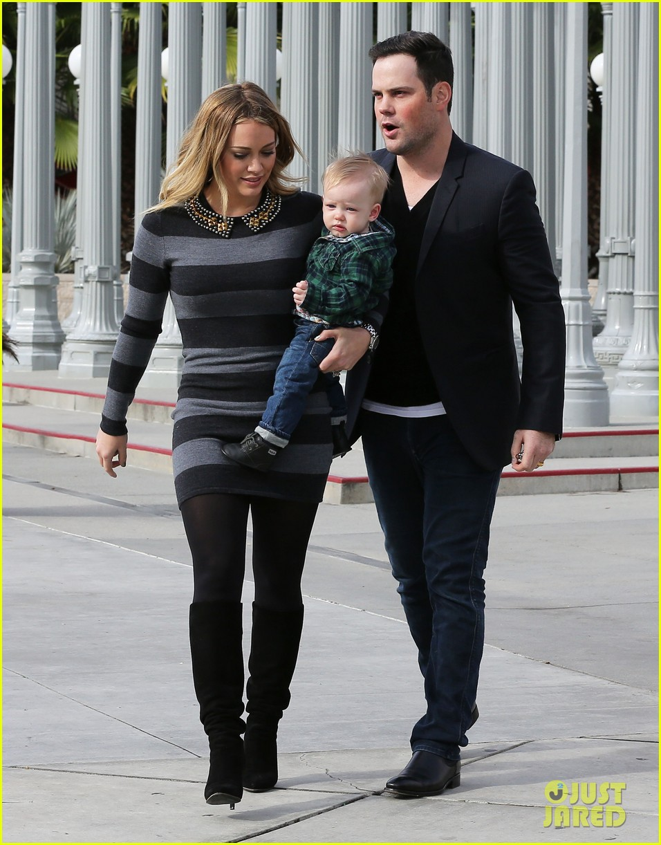 hilary duff mike comrie family fun day with luca 15