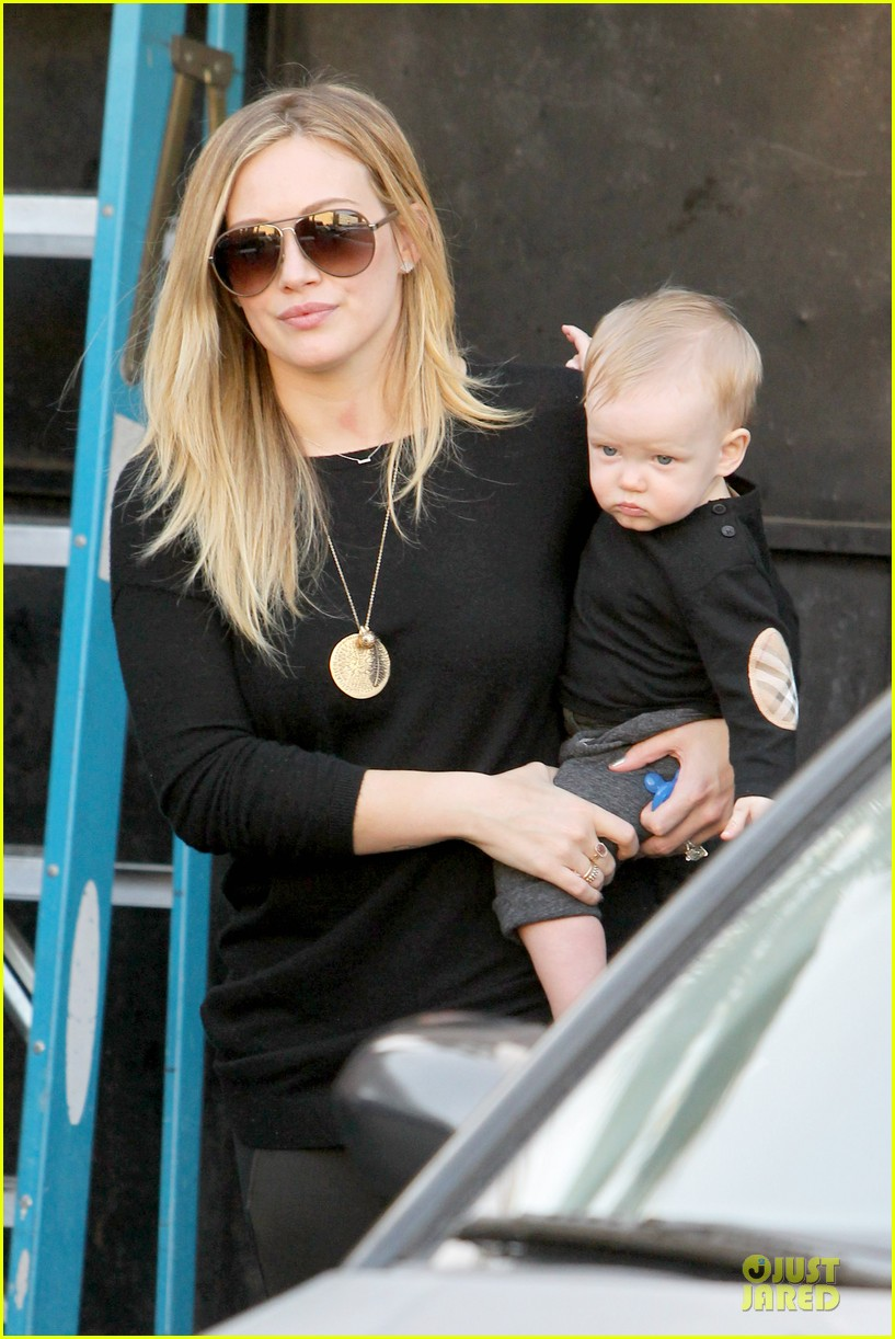 hilary duff matching outfit for lunch 022772673
