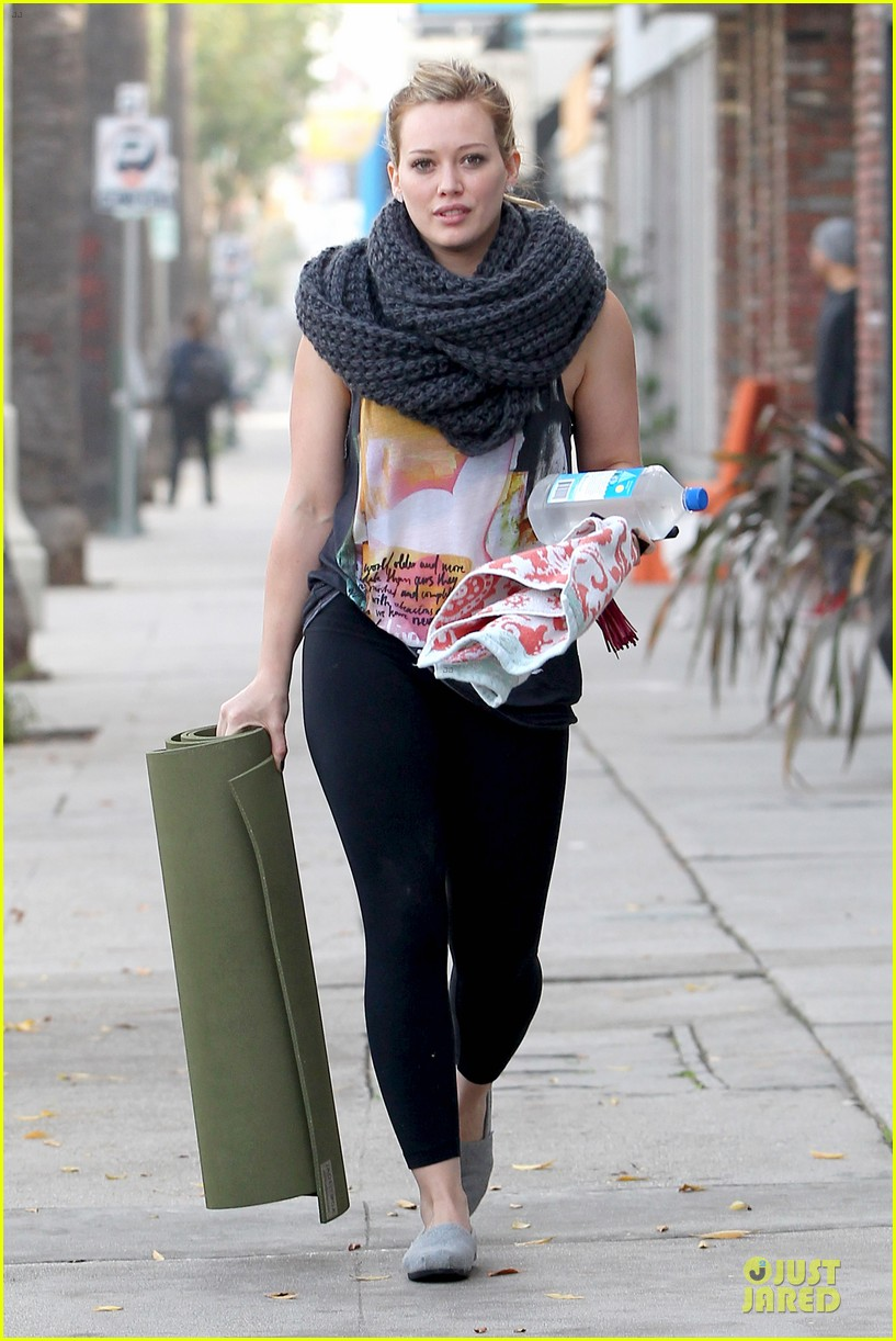 hilary duff matching outfit for lunch 062772677