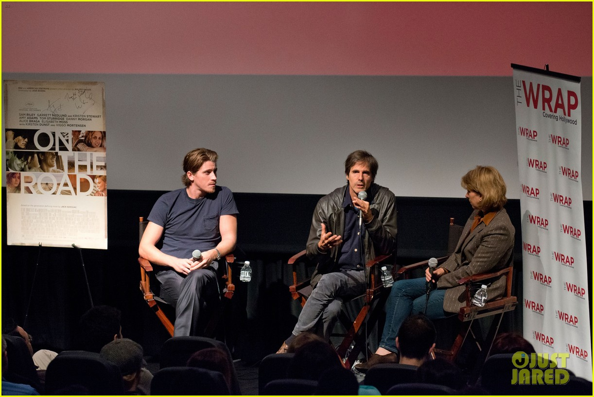 garrett hedlund on the road screening for the wrap 192770521