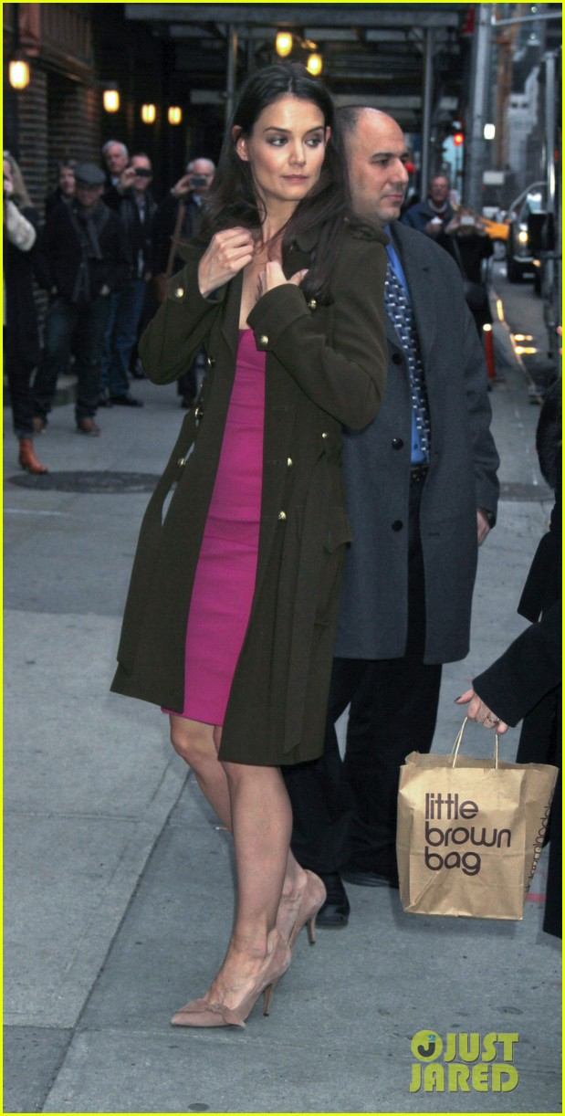 katie holmes david letterman appearance tonight 132778884