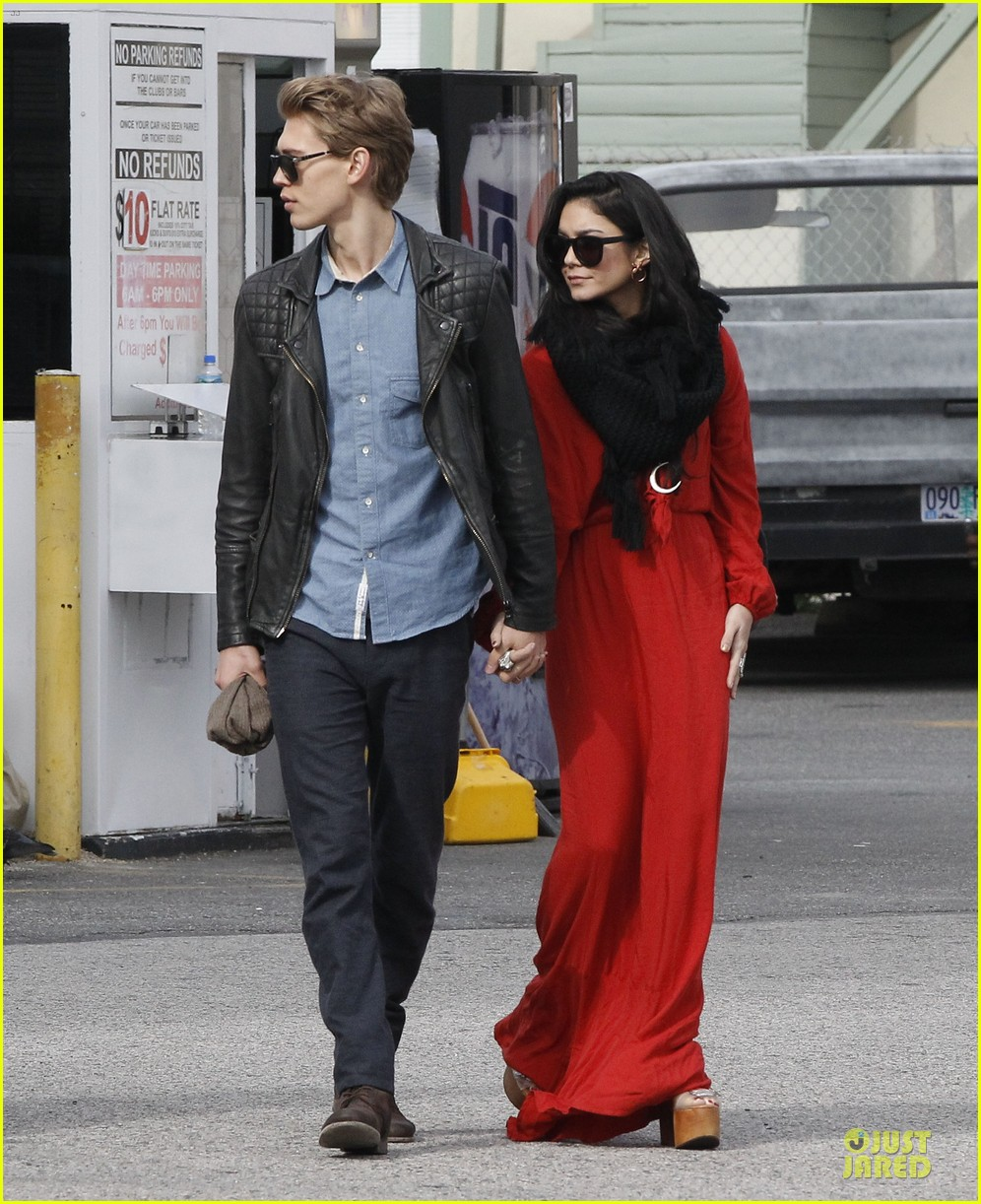 vanessa hudgens & austin butler church going couple 092782616