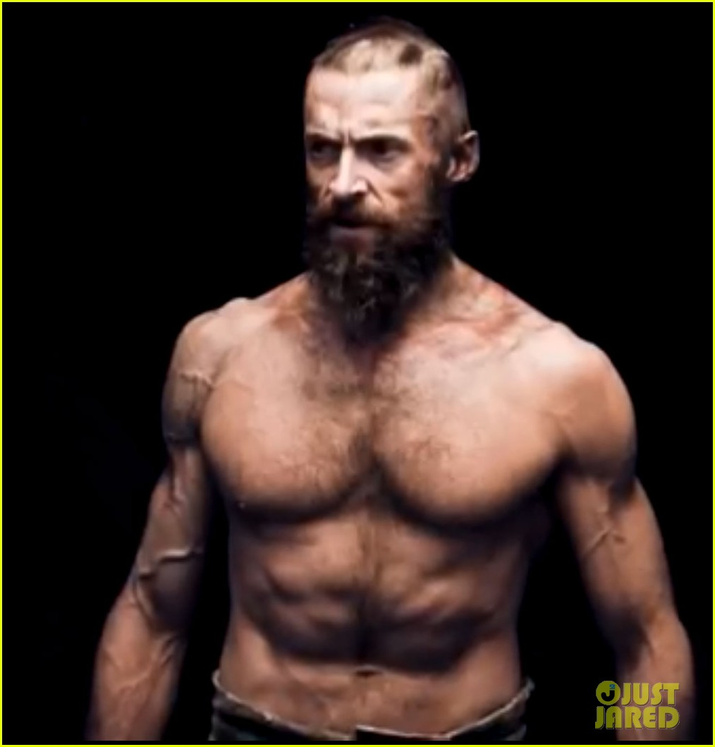 hugh jackman shirtless in les miserables featurette 01