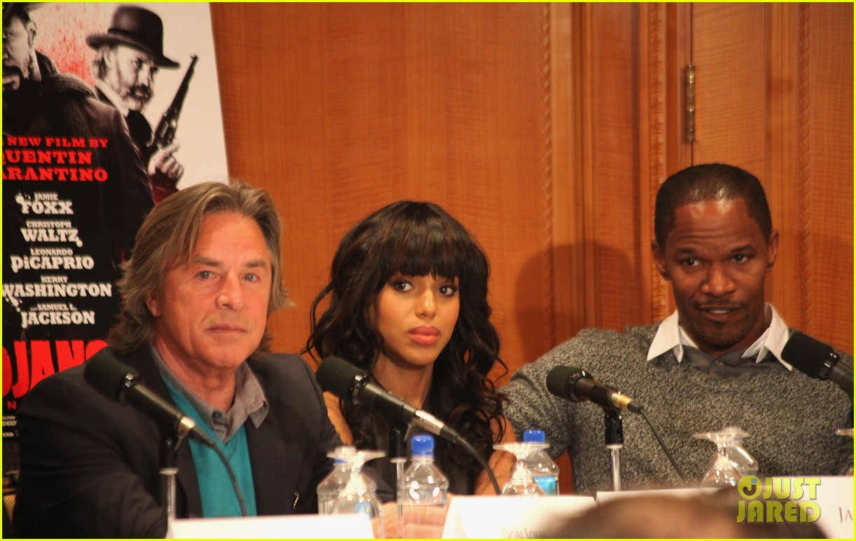 leonardo dicaprio kerry washington django unchained press conference 052776753