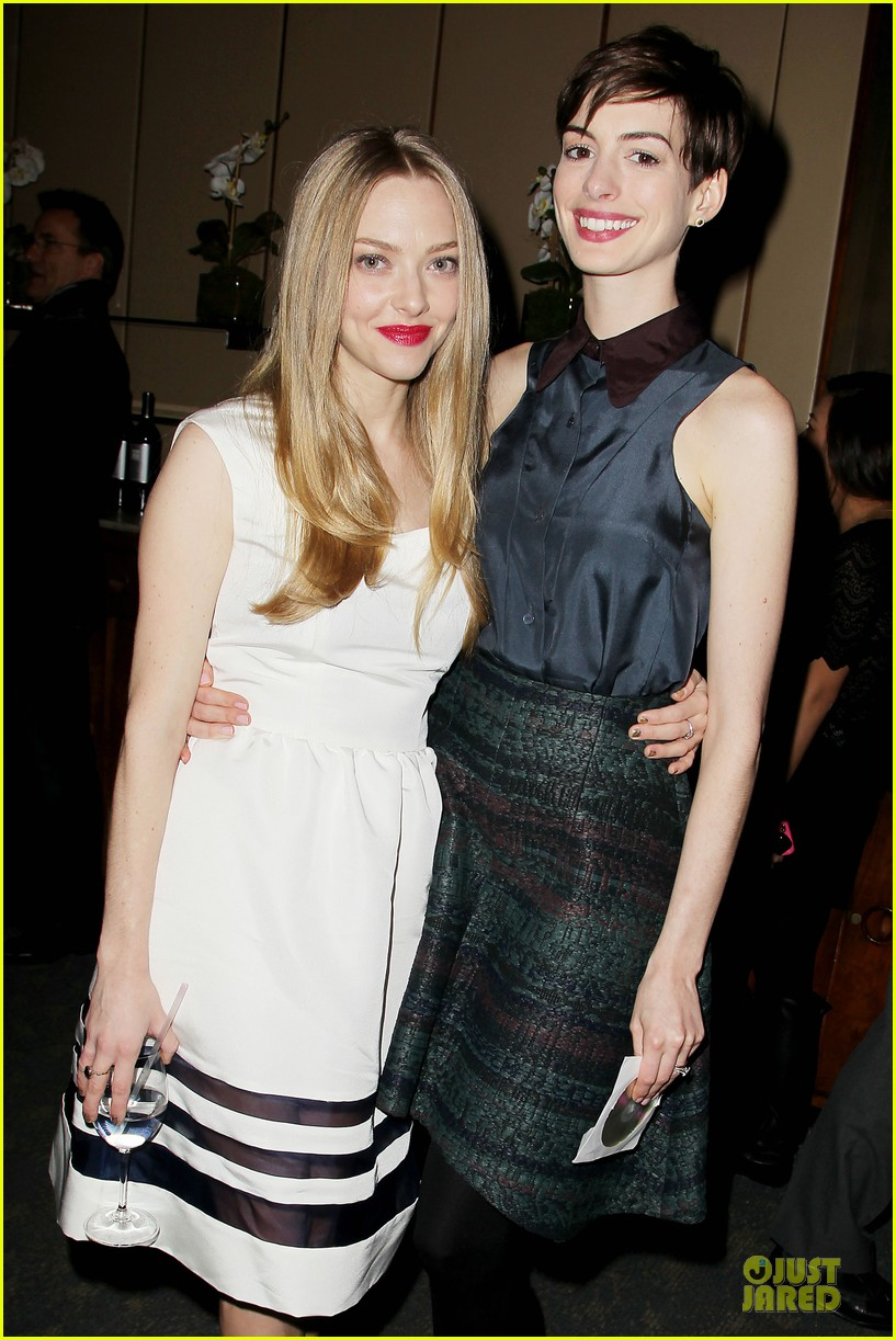 anne hathaway & amanda seyfriend les miserables luncheon 062773978