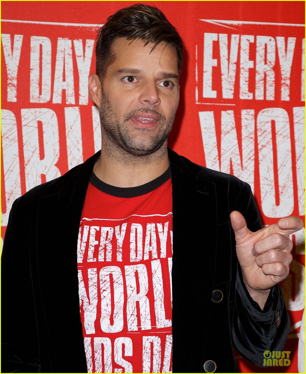 ricky martin world aids day event 142767025
