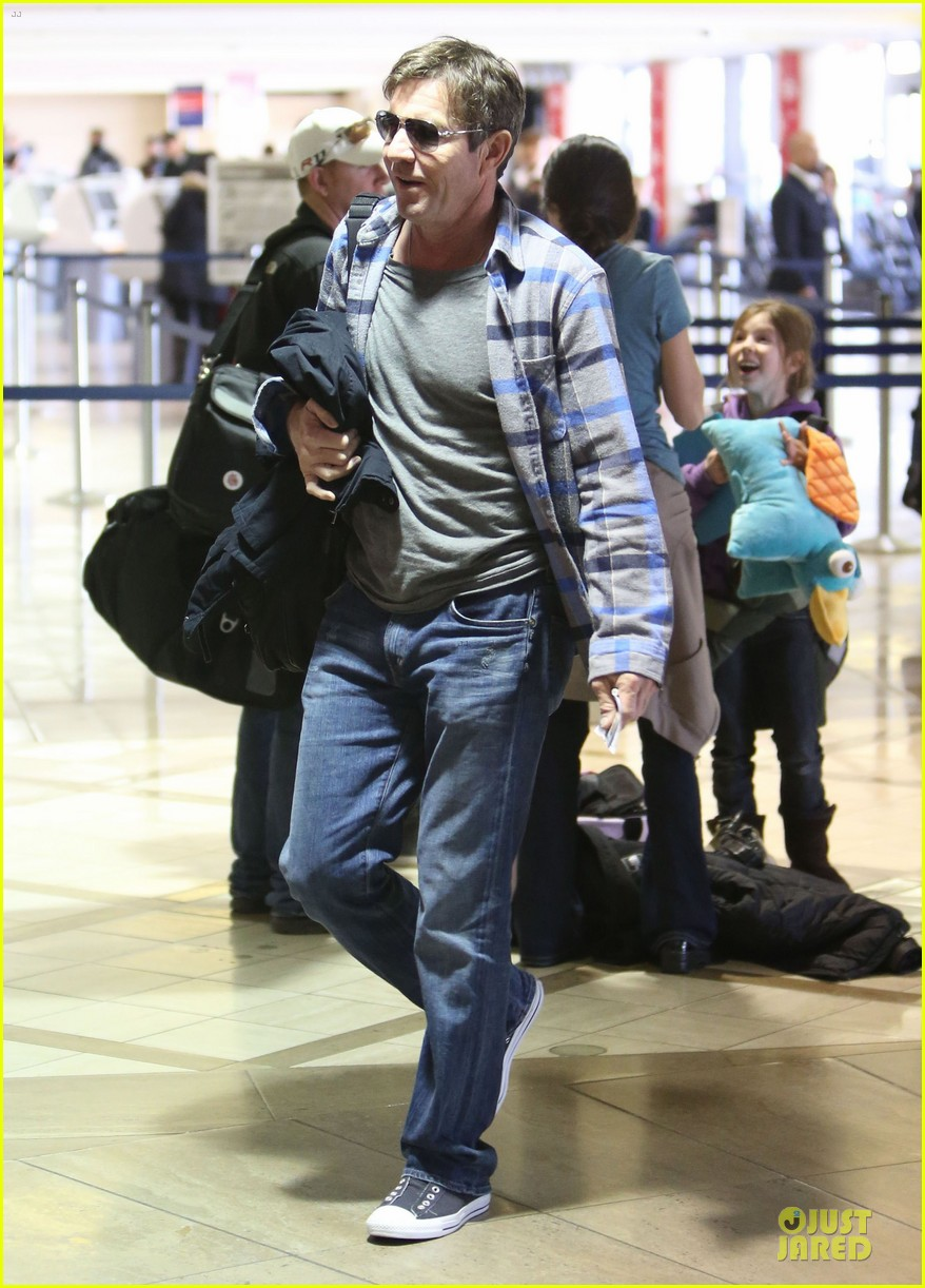 dennis quaid lax departure with a mystery woman 12