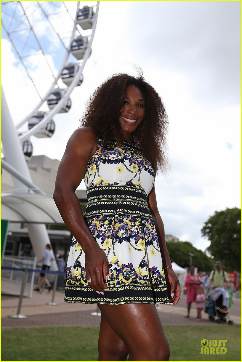 serena williams brisbane international arrival 02