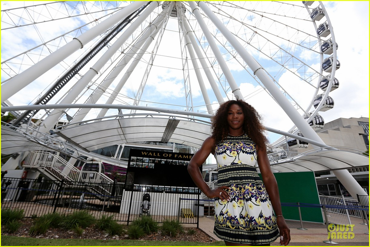 serena williams brisbane international arrival 032782836