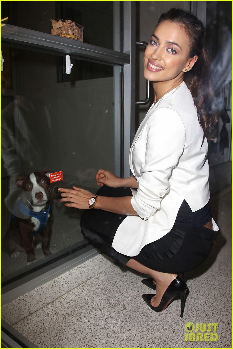 irina shayk aspca adoption center visit 182776029