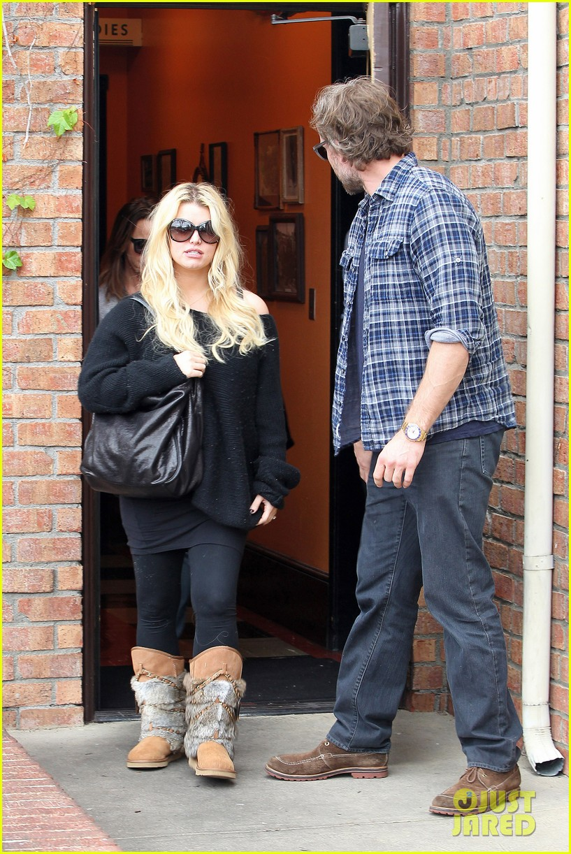 jessica simpson eric johnson kings fish house lunch 05
