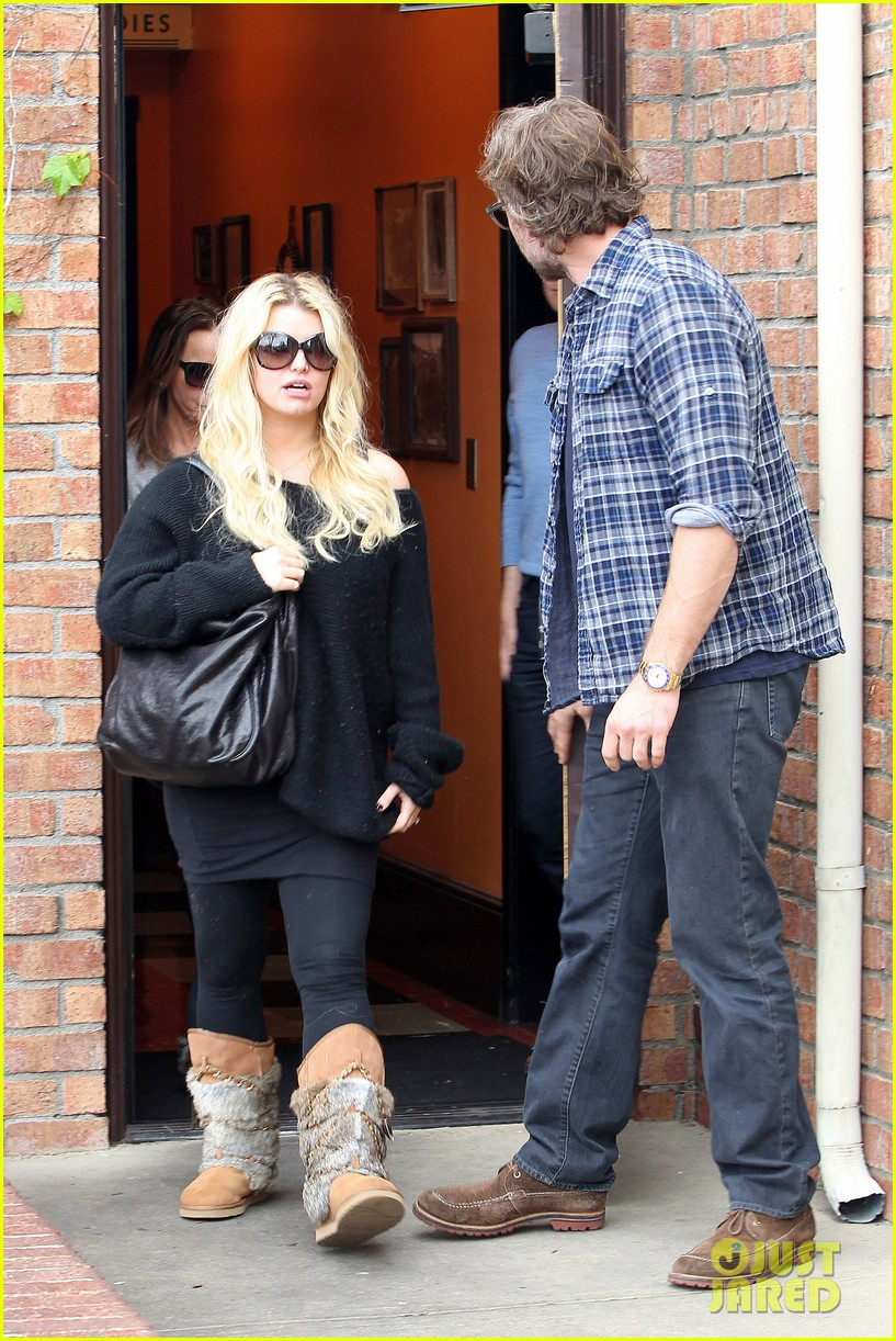 jessica simpson eric johnson kings fish house lunch 17