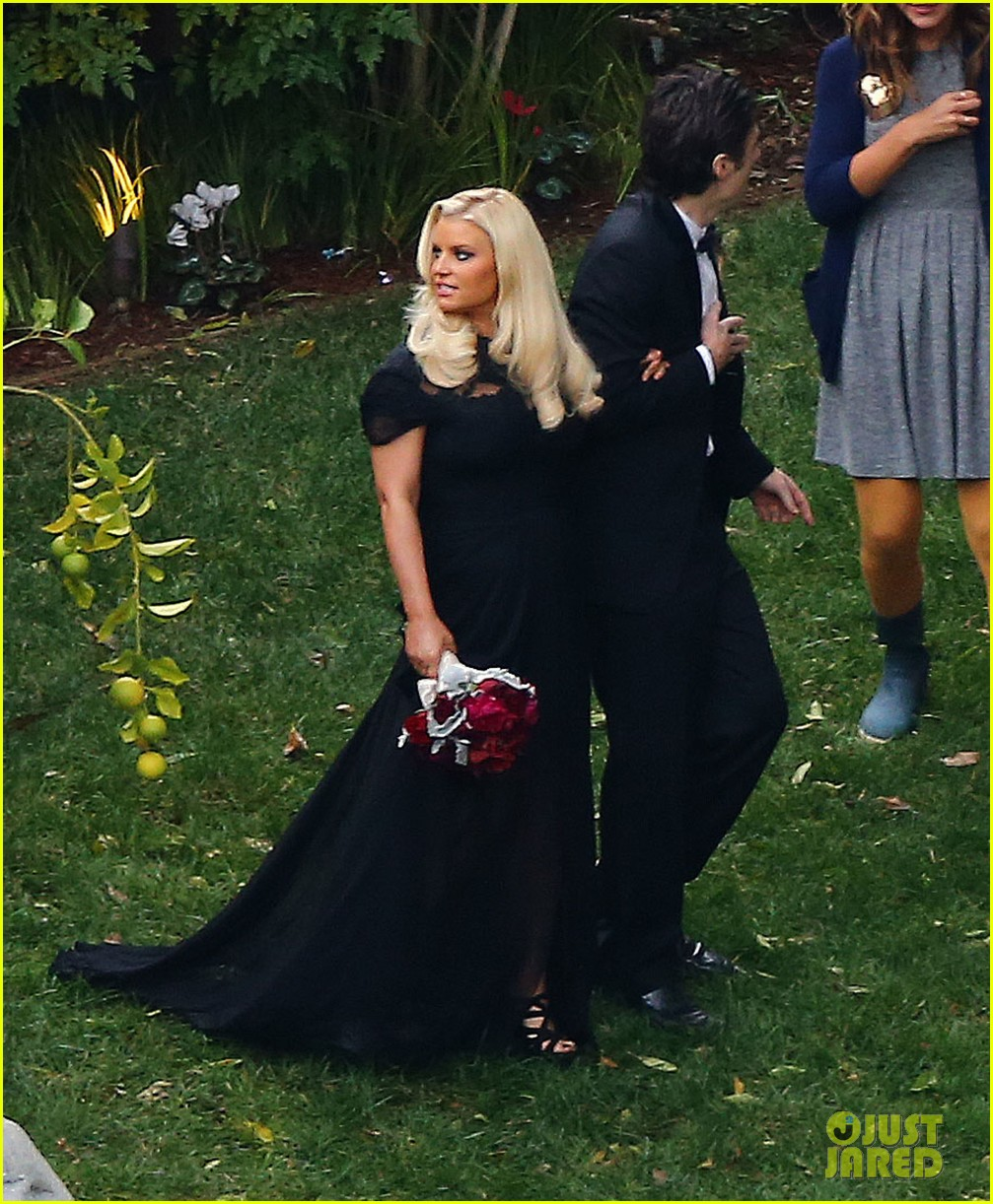 jessica simpson bridesmaid at cacee cobb wedding 052776609