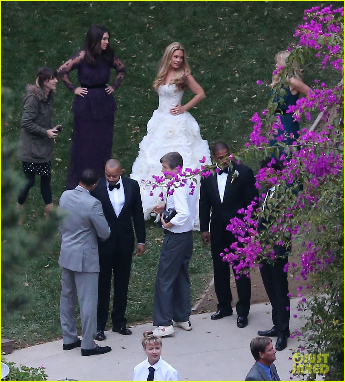 jessica simpson bridesmaid at cacee cobb wedding 07