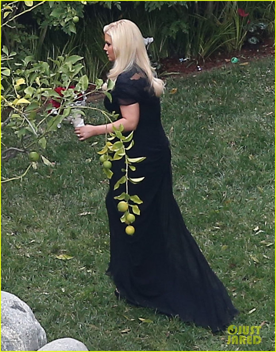 jessica simpson bridesmaid at cacee cobb wedding 13